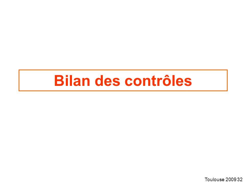 Toulouse 2009 32 Bilan des contrôles