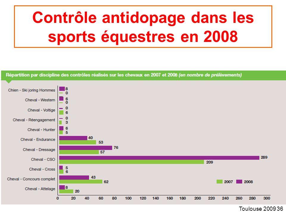 Toulouse 2009 36 Contrôle antidopage dans les sports équestres en 2008