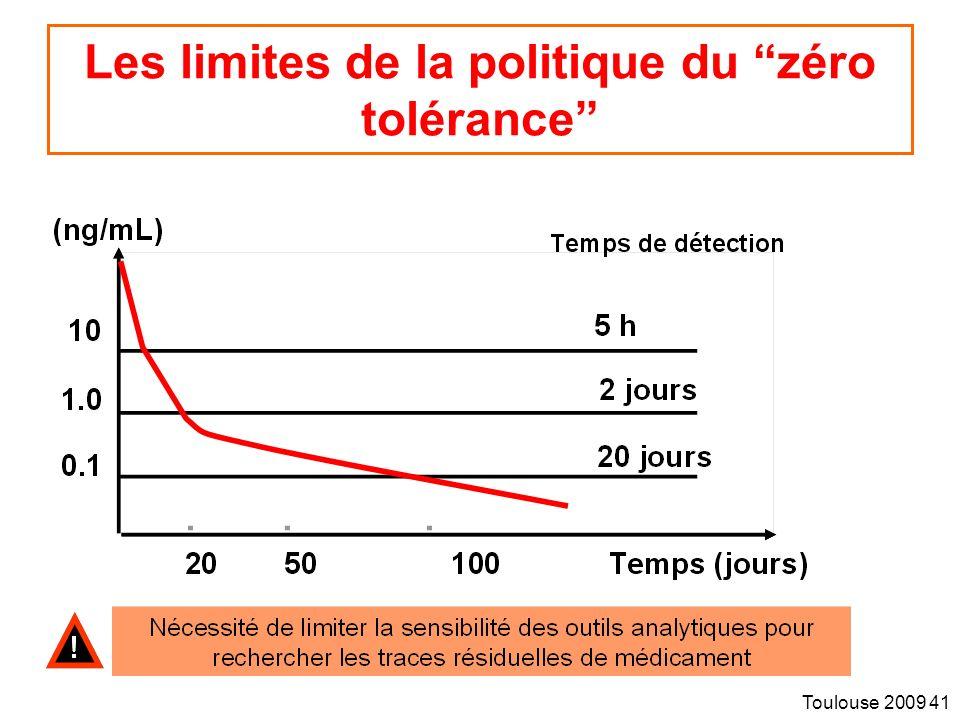 Toulouse 2009 41 Les limites de la politique du zéro tolérance