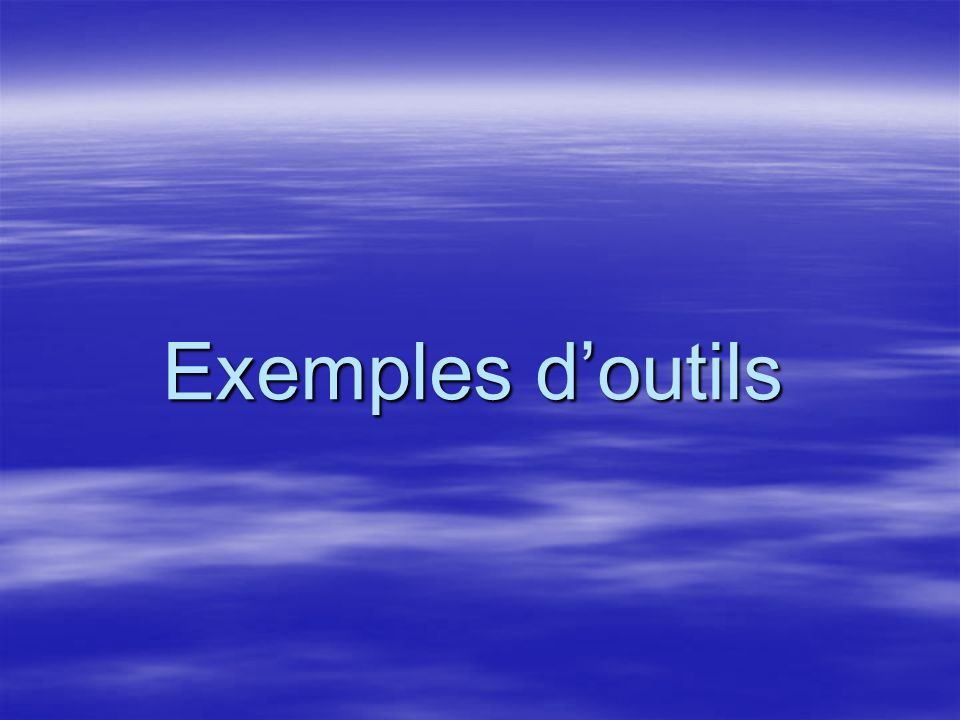 Exemples doutils