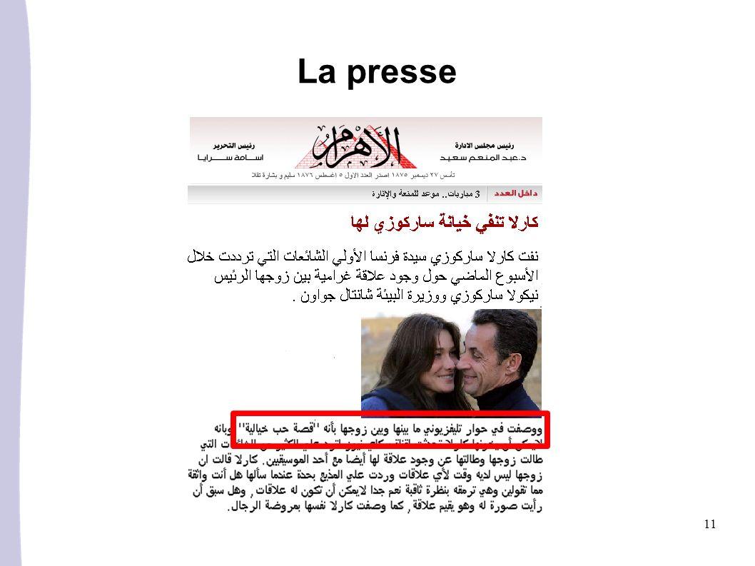 11 La presse