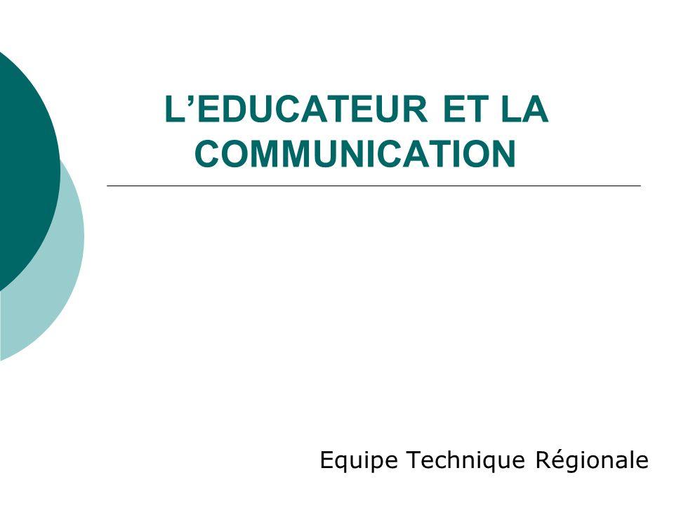 Lart de communiquer Etymologiquement communiquer signifie : mettre en commun Léducateur doit être en capacité de communiquer objectivement quelque soit le domaine et le temps.