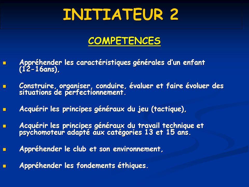 INITIATEUR 2 COMPETENCES Appréhender les caractéristiques générales dun enfant (12-16ans), Appréhender les caractéristiques générales dun enfant (12-1