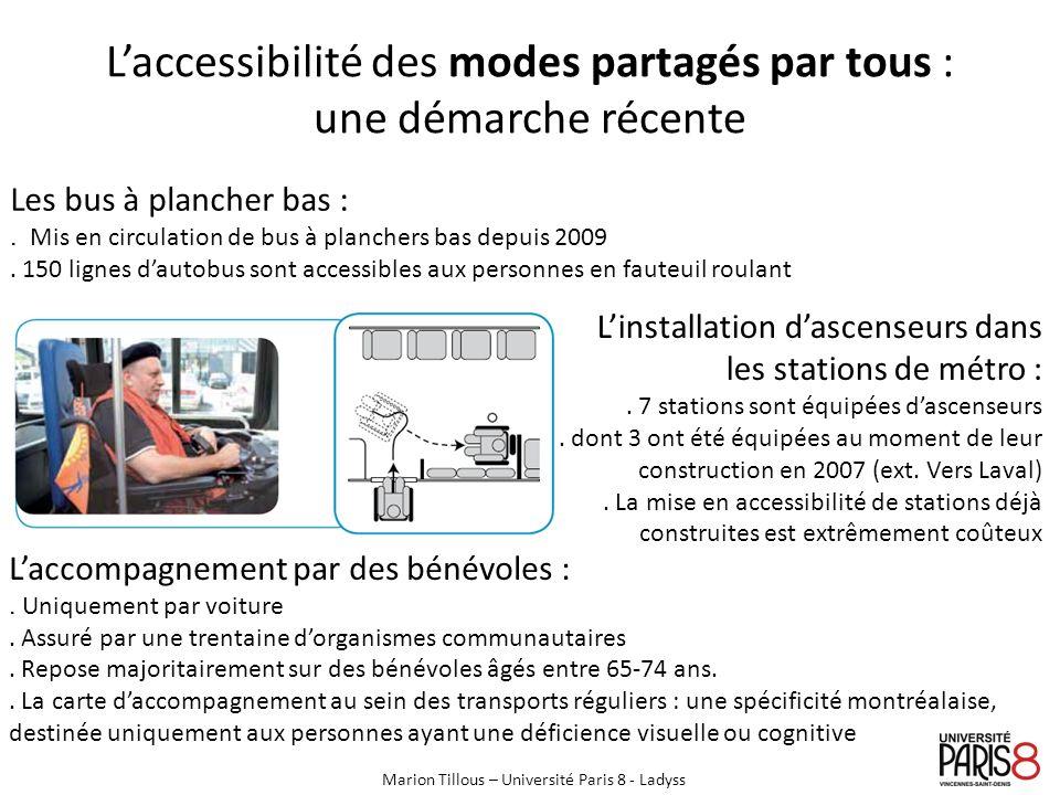 Lhorizon daction du service Accessibilité de la STM : le dispositif parisien des Compagnons du Voyage Dispositif :.