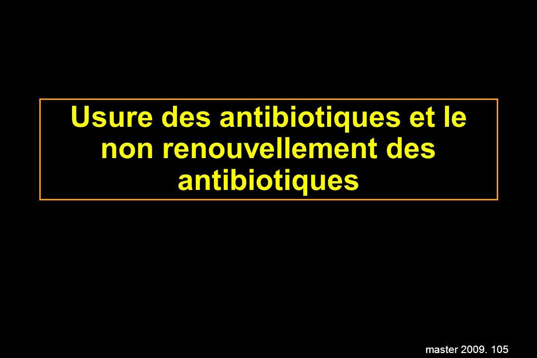 master 2009. 105 Usure des antibiotiques et le non renouvellement des antibiotiques