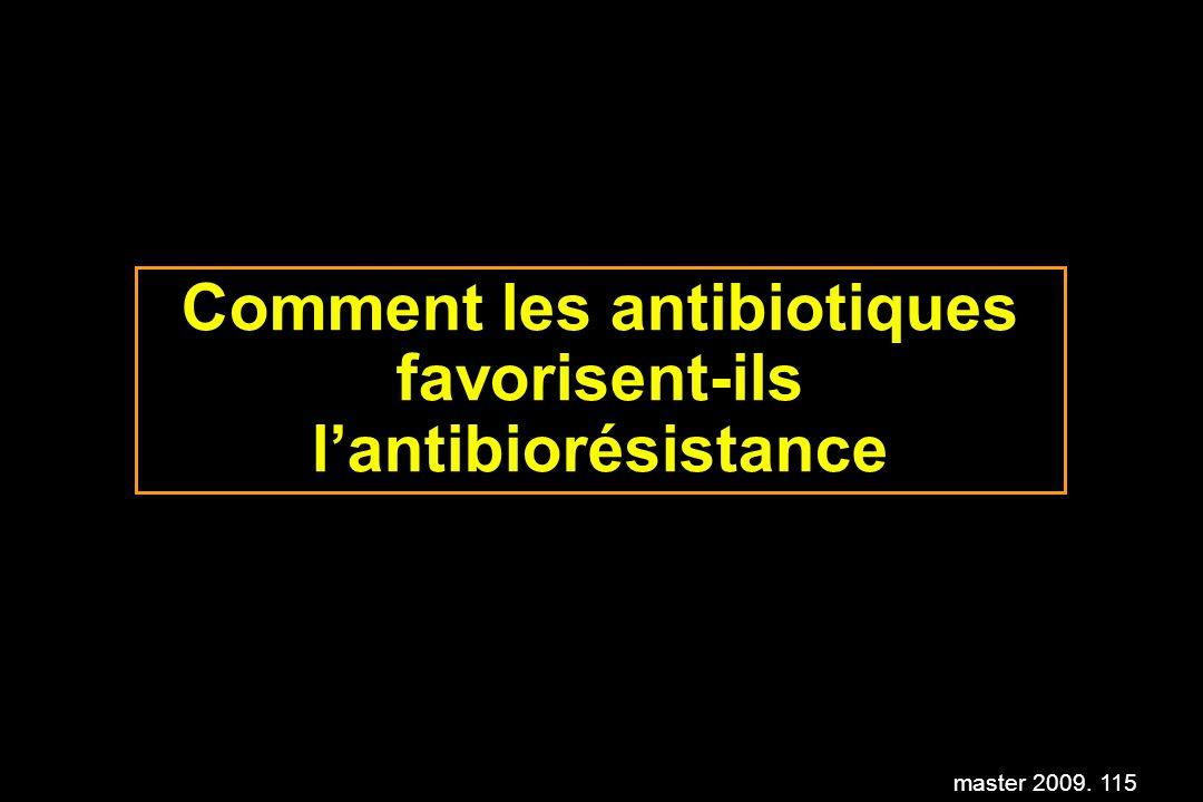master 2009. 115 Comment les antibiotiques favorisent-ils lantibiorésistance