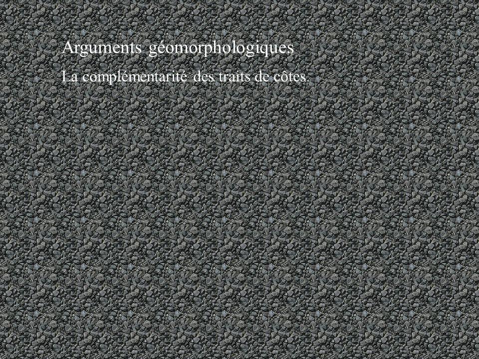 Arguments géomorphologiques La complémentarité des traits de côtes