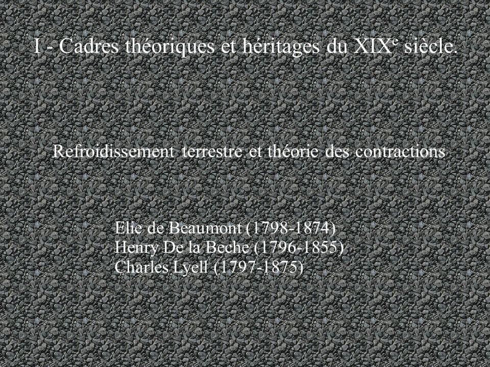 I - Cadres théoriques et héritages du XIX e siècle.