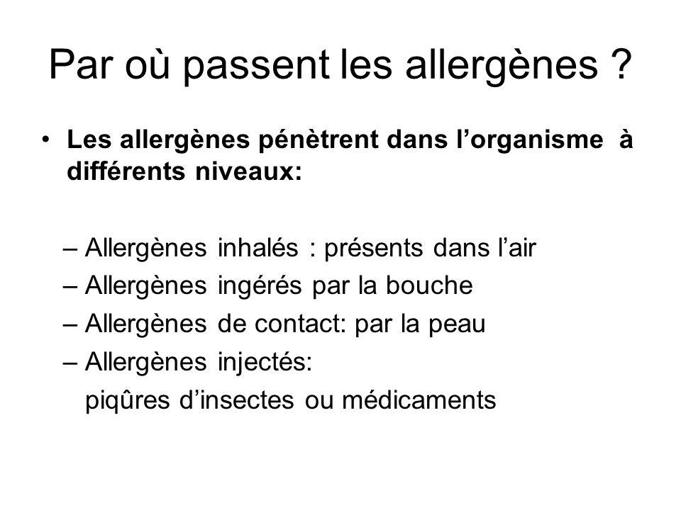 Par où passent les allergènes .
