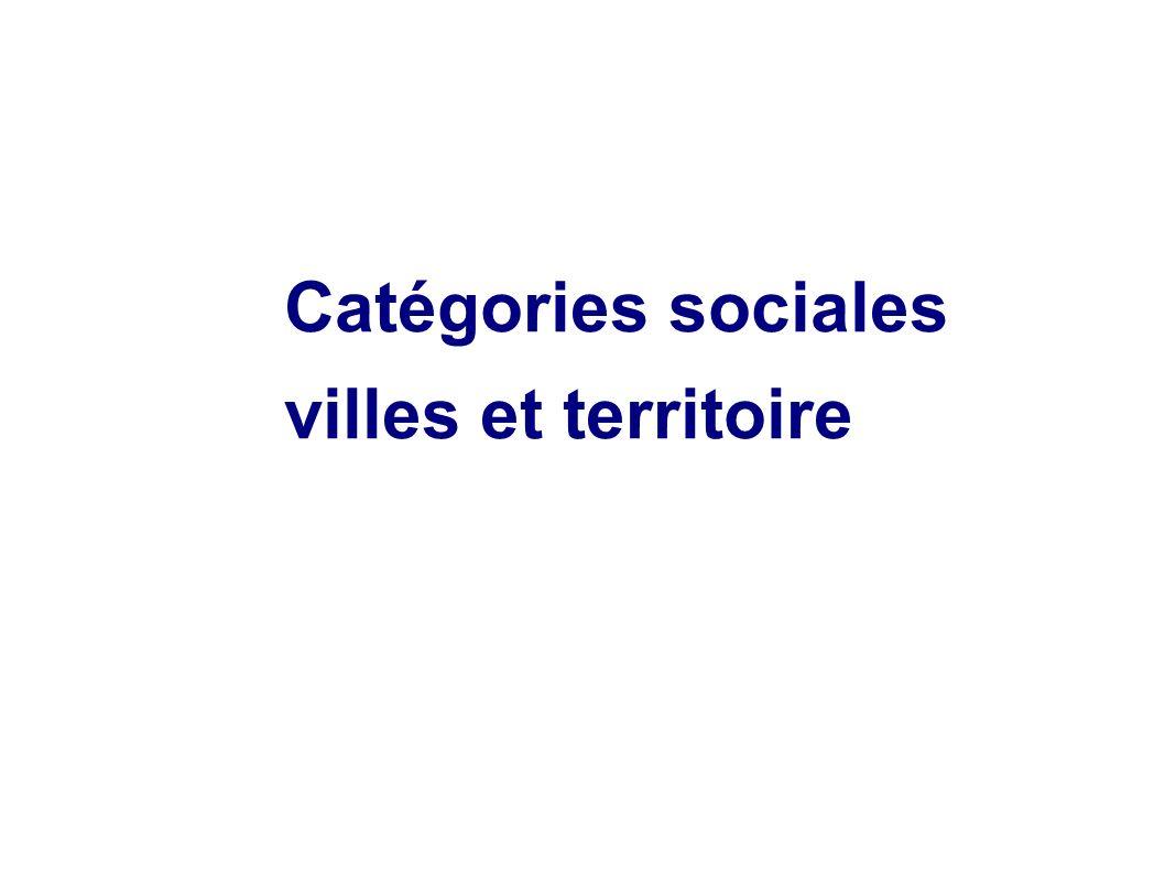 Catégories sociales villes et territoire