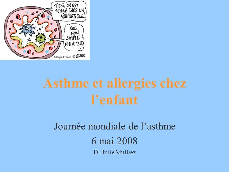 Asthme et allergies chez lenfant Journée mondiale de lasthme 6 mai 2008 Dr Julie Mulliez