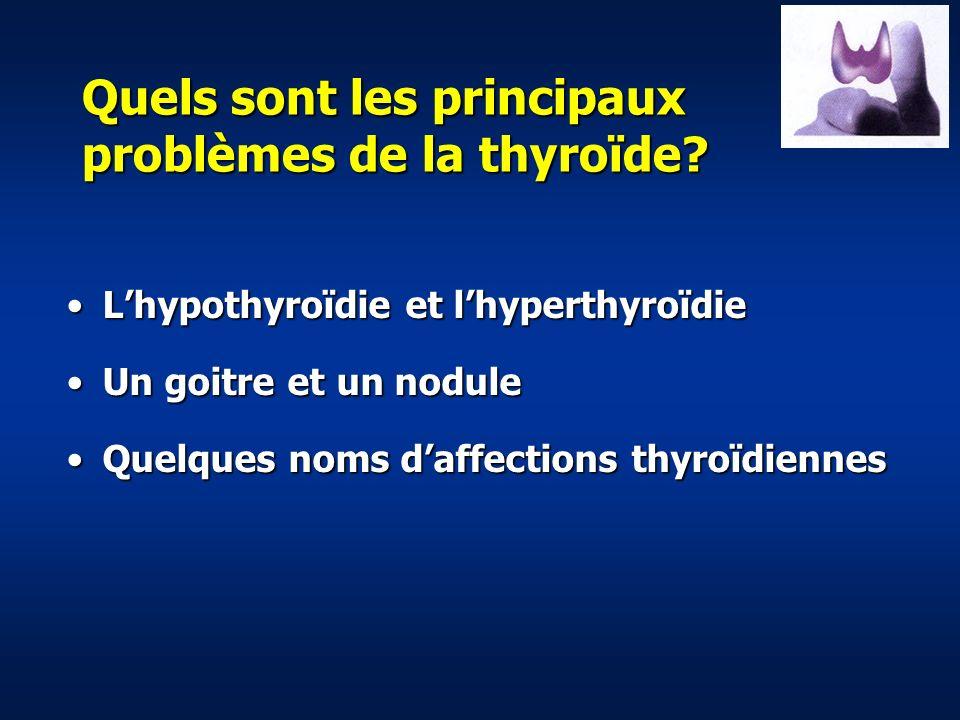 Quels sont les principaux problèmes de la thyroïde.