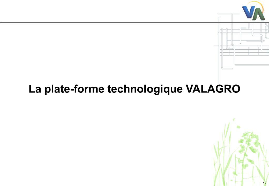 17 La plate-forme technologique VALAGRO