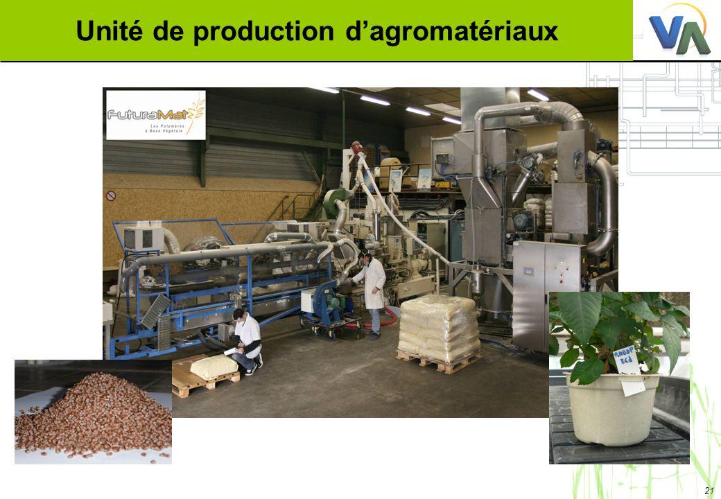 21 Unité de production dagromatériaux