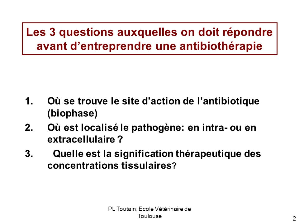 PL Toutain; Ecole Vétérinaire de Toulouse 53 The blood-alveolar barrier The alveolar epithelial cells would not be expected to permit passive diffusion of antibiotics between cells, the cells being linked by tight junctions Fenestrated pulmonary capillary bed expected to permit passive diffusion of antibiotics with a molecular weight 1,000 Epithelial lining fluid ELF