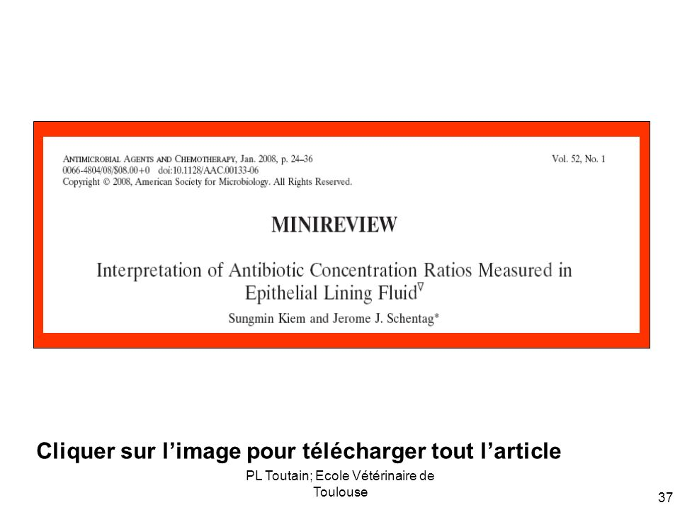 PL Toutain; Ecole Vétérinaire de Toulouse 37 Cliquer sur limage pour télécharger tout larticle