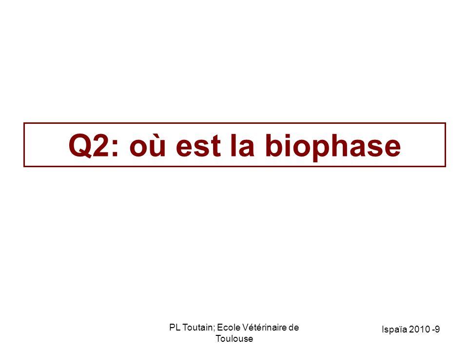 PL Toutain; Ecole Vétérinaire de Toulouse 10 La concentration plasmatique libre de lantibiotique est celle qui contrôle la concentration de la biophase AUC libre plasma = AUC libre LEC (biophase) AB Liée AB Libre LEC = biophase Diffusion/perméabilité Cellule Cytosol L L organites Barrières -physiologiques: cerveau, prostate, rétine -Pathologiques (caillot, abcès, …) Bactérie AB liée AB libre
