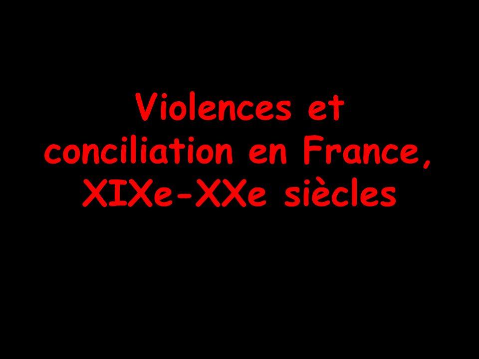 Violences et conciliation en France, XIXe-XXe siècles