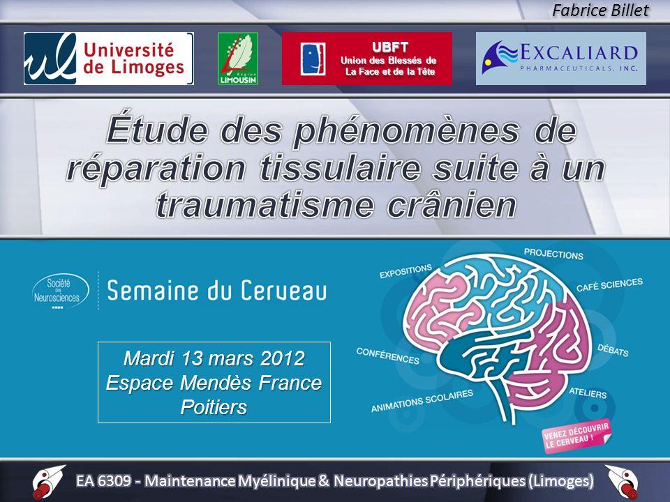 Mardi 13 mars 2012 Espace Mendès France Poitiers UBFT Union des Blessés de La Face et de la Tête UBFT Union des Blessés de La Face et de la Tête