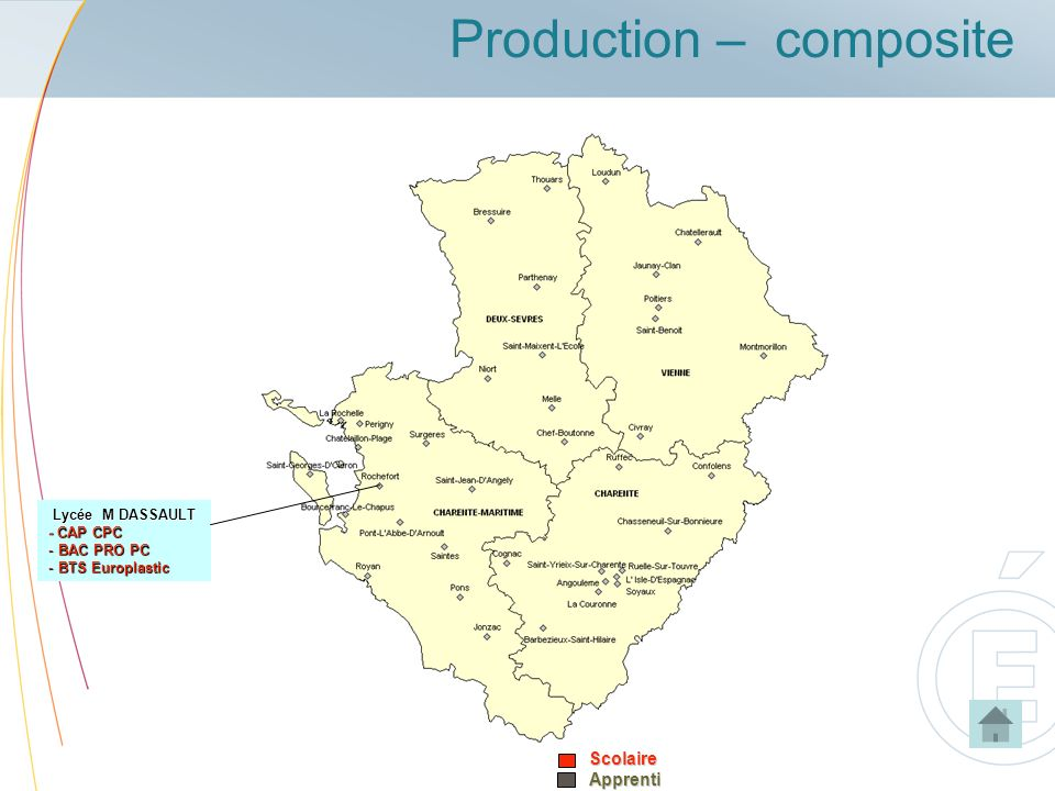 Production – compositeScolaireApprenti Lycée M DASSAULT - CAP CPC - BAC PRO PC - BTS Europlastic