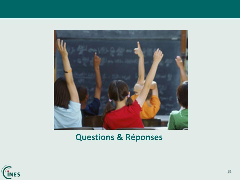 19 Questions & Réponses