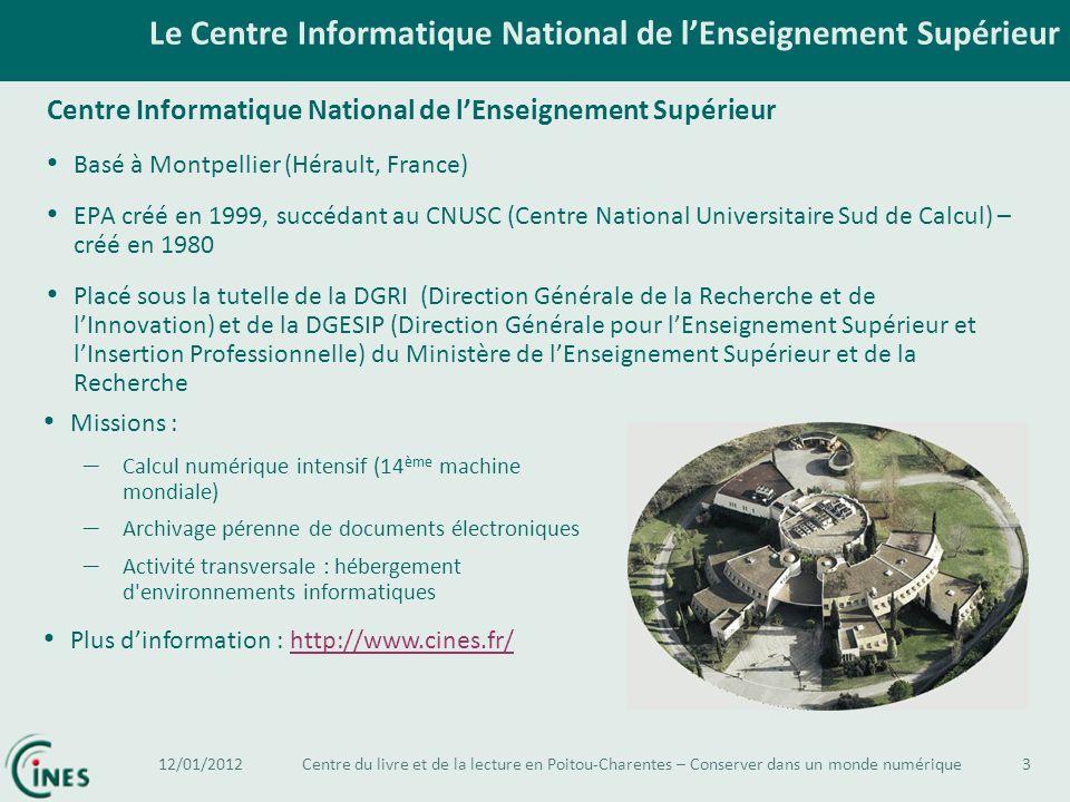 Le Centre Informatique National de lEnseignement Supérieur 3 Centre Informatique National de lEnseignement Supérieur Basé à Montpellier (Hérault, Fran