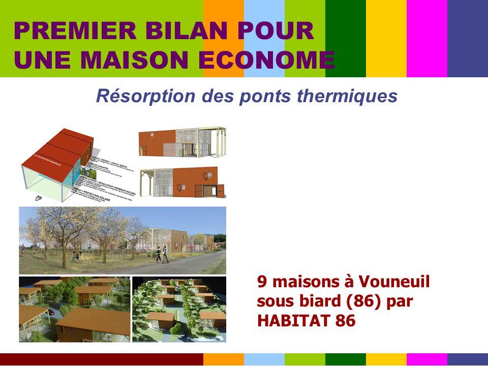 Résorption des ponts thermiques PREMIER BILAN POUR UNE MAISON ECONOME 9 maisons à Vouneuil sous biard (86) par HABITAT 86