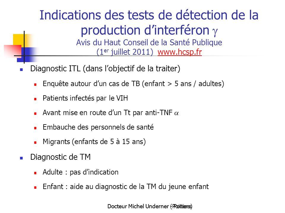 Docteur Michel Underner (Poitiers)Docteur Michel Underner - Poitiers Indications des tests de détection de la production dinterféron Avis du Haut Cons