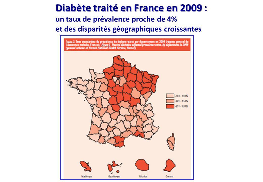 Diabète traité en France en 2009 Diabète traité en France en 2009 : un taux de prévalence proche de 4% et des disparités géographiques croissantes