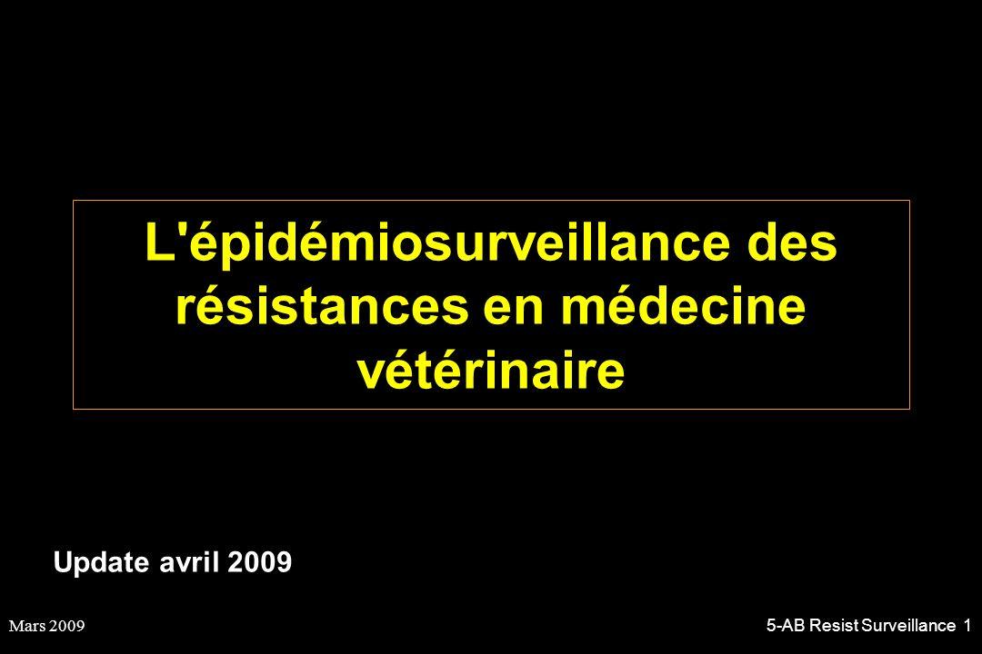 Mars 20095-AB Resist Surveillance 1 L'épidémiosurveillance des résistances en médecine vétérinaire Update avril 2009