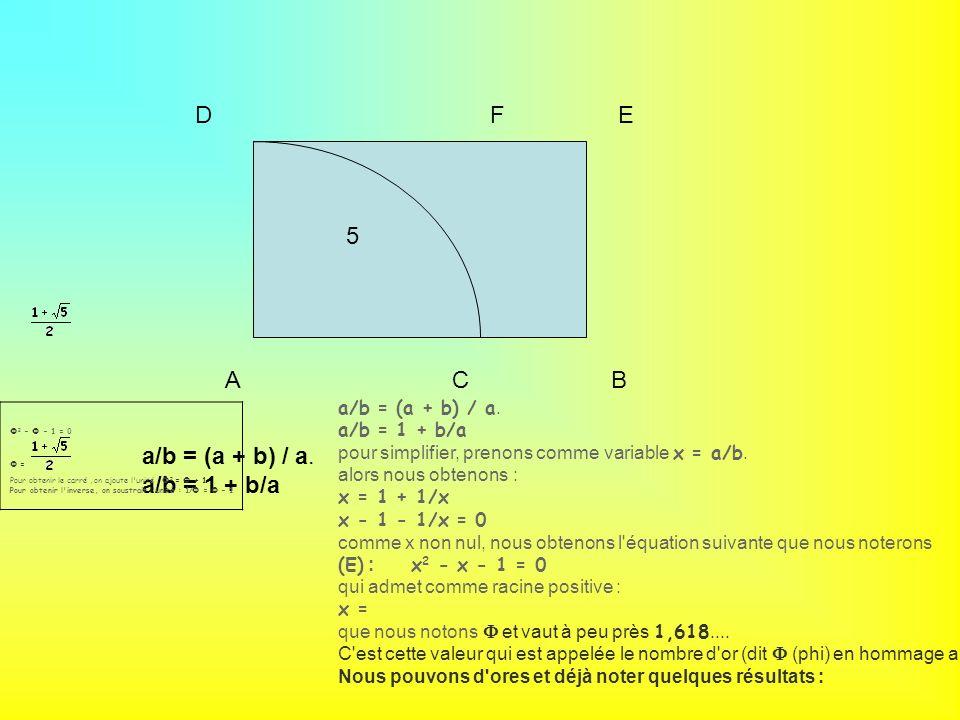 ABC DEF 5 a/b = (a + b) / a.a/b = 1 + b/a a/b = (a + b) / a.