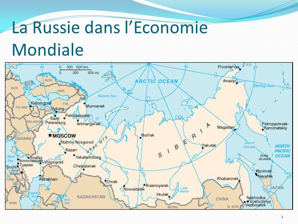 22 Introduction: Léconomie russe entre 1999 et 2008.