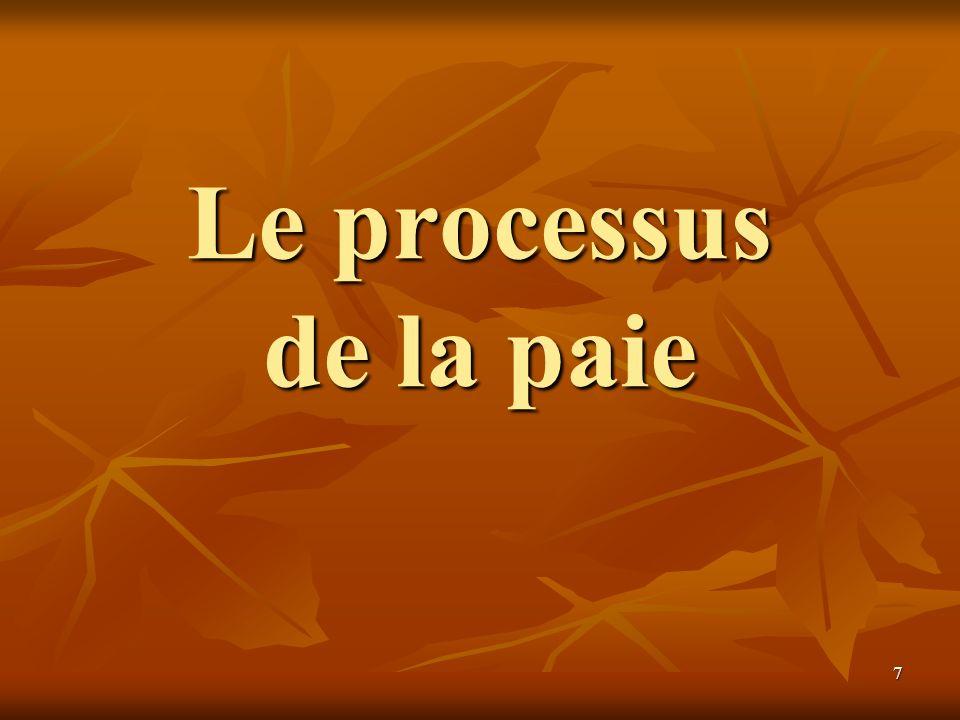 7 Le processus de la paie
