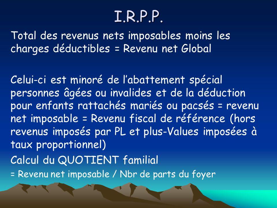 I.R.P.P.A ce niveau du calcul on applique une décote.