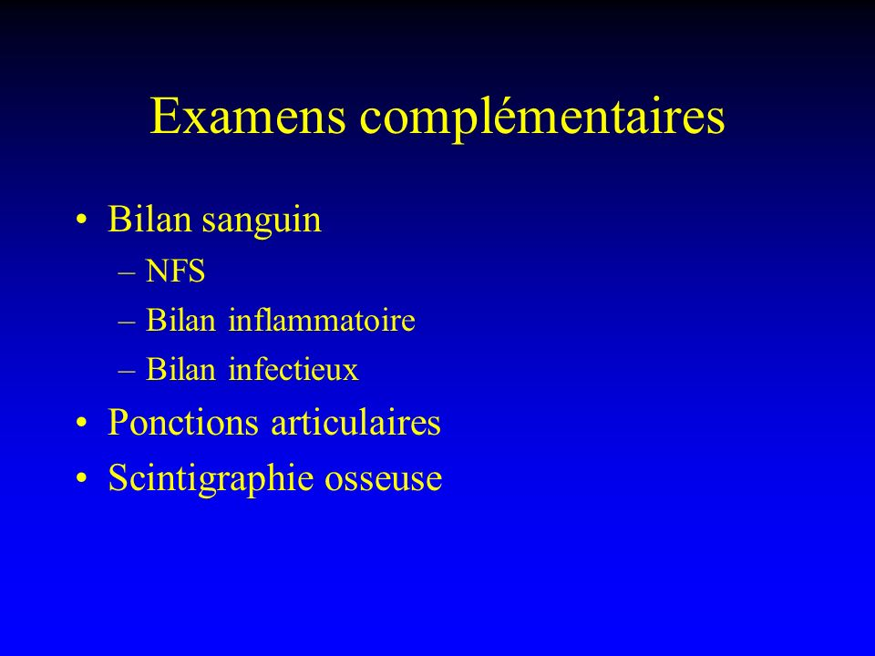 Diagnostic étiologique Coxarthrose Coxite Ostéonécrose Arthrite Tendinite du moyen fessier Algodystrophie Tumeurs synoviales