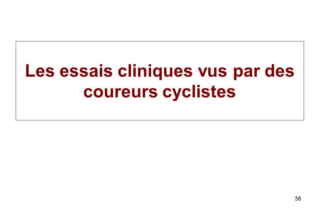 36 Les essais cliniques vus par des coureurs cyclistes
