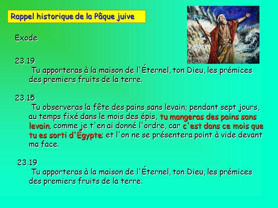 Exode23.19 Tu apporteras à la maison de l'Éternel, ton Dieu, les prémices des premiers fruits de la terre. Tu apporteras à la maison de l'Éternel, ton