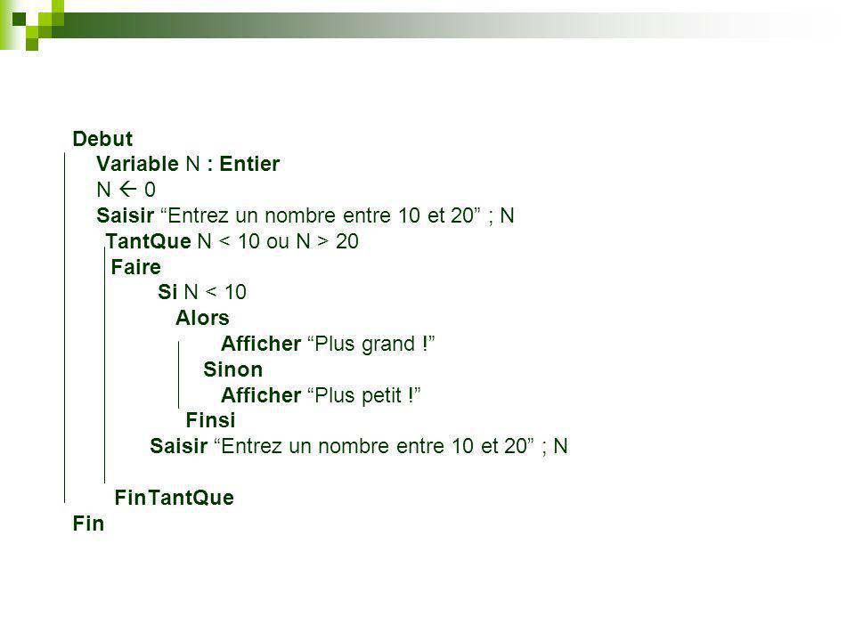 Tableau Truc(6) : Chaine Debut Truc(0) a Truc(1) e Truc(2) i Truc(3) o Truc(4) u Truc(5) y Fin