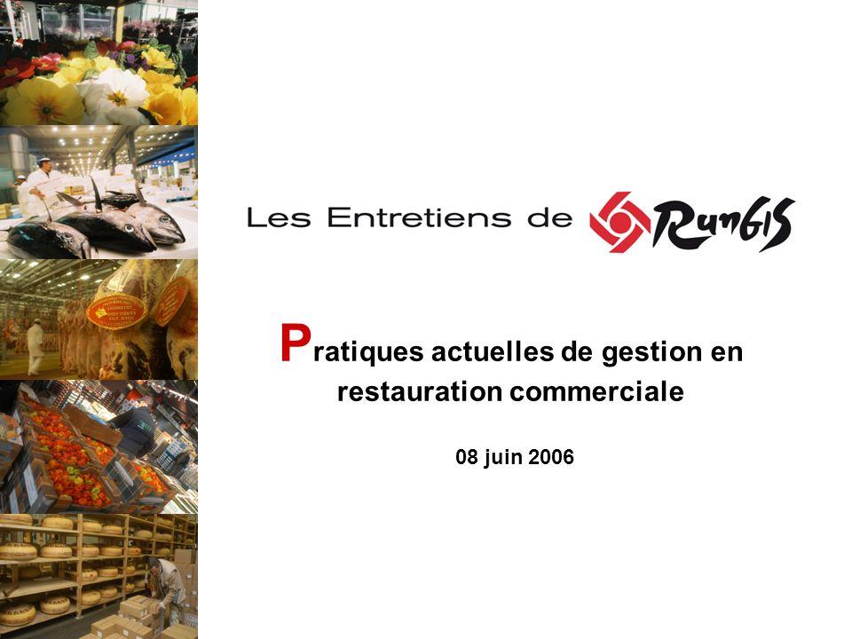 P ratiques actuelles de gestion en restauration commerciale 08 juin 2006
