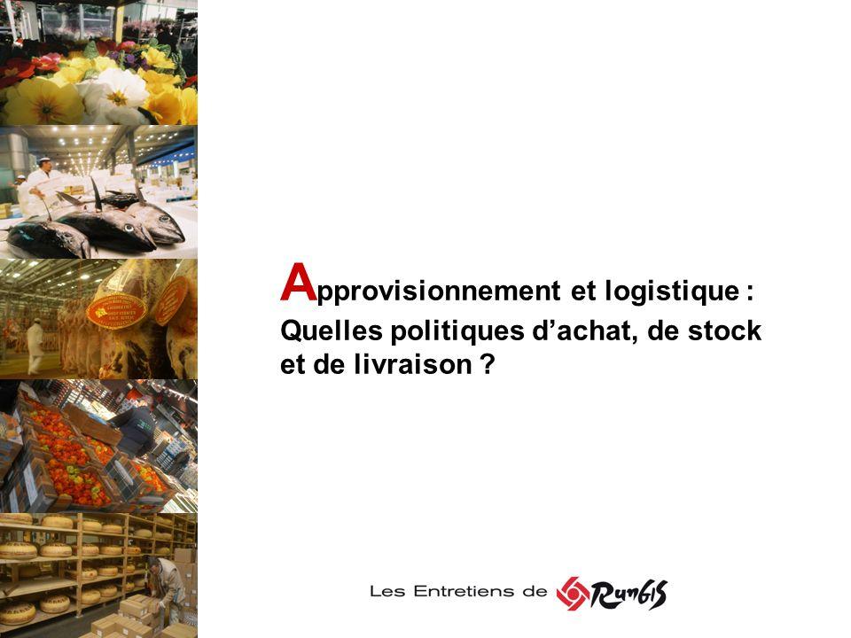A pprovisionnement et logistique : Quelles politiques dachat, de stock et de livraison ?
