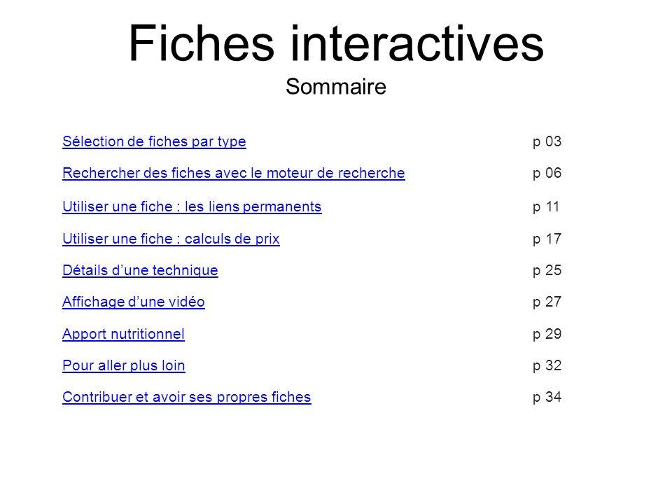 Des compléments dinformation sont disponibles : liens vers dautres fiches, enregistrements sonores, etc.