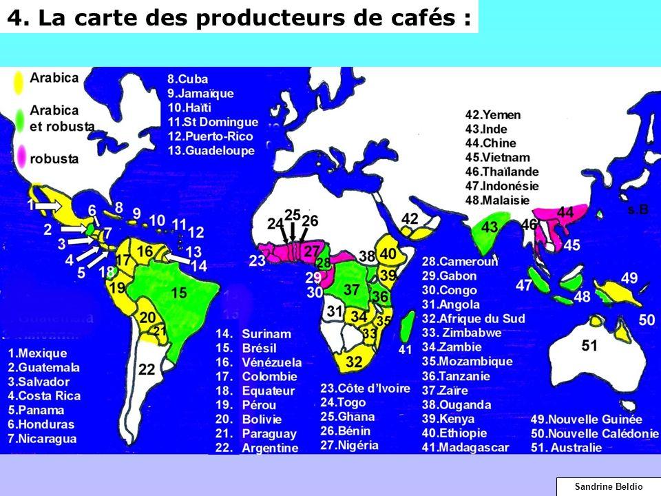 4. La carte des producteurs de cafés : Sandrine Beldio