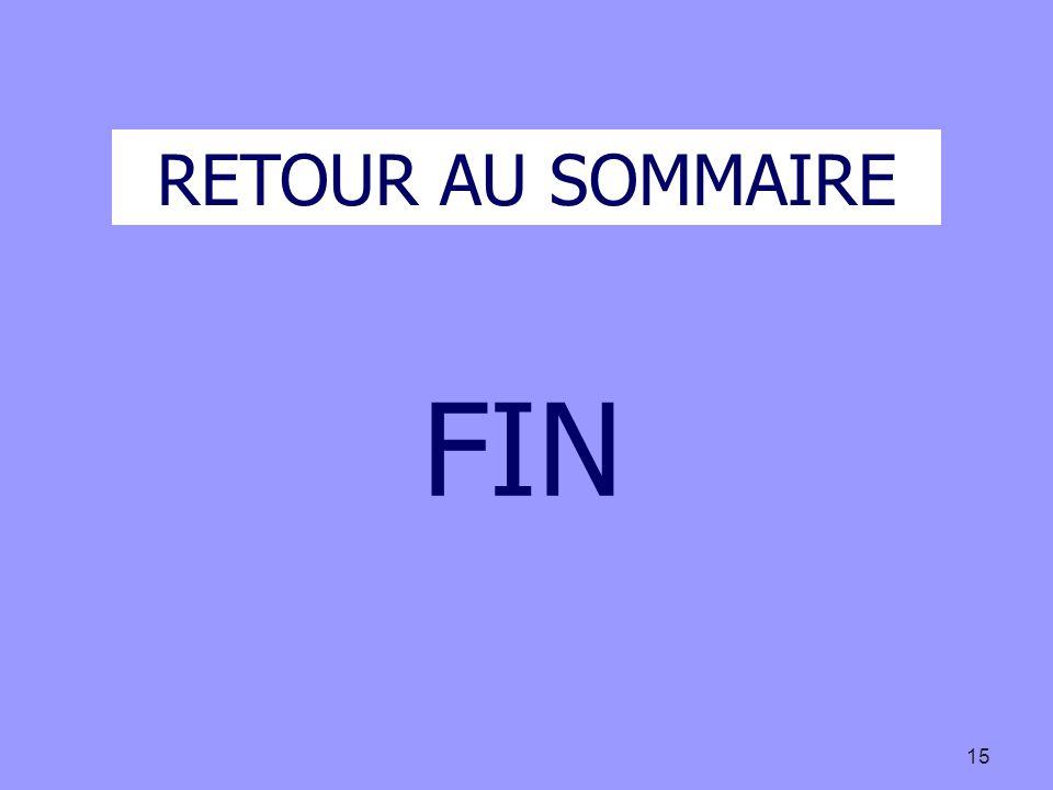 15 RETOUR AU SOMMAIRE FIN