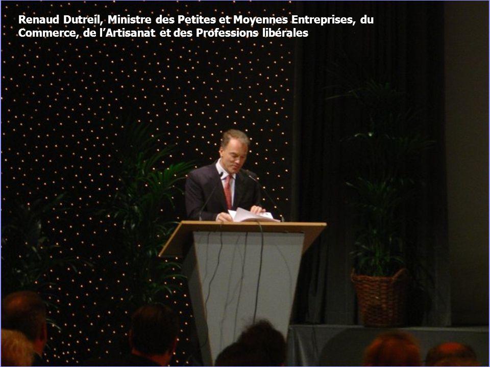 6 Renaud Dutreil, Ministre des Petites et Moyennes Entreprises, du Commerce, de lArtisanat et des Professions libérales