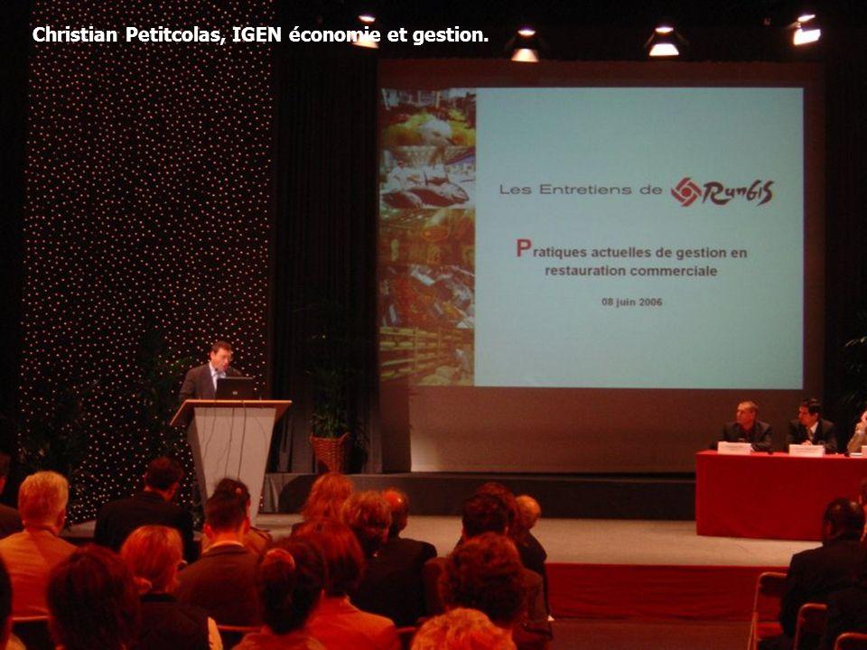 8 Christian Petitcolas, IGEN économie et gestion.