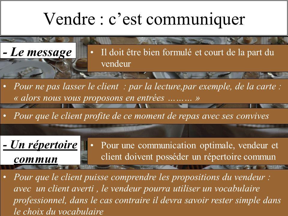 11/1O/2009S.Beldio Vendre : cest communiquer - Le message Il doit être bien formulé et court de la part du vendeur Pour ne pas lasser le client : par