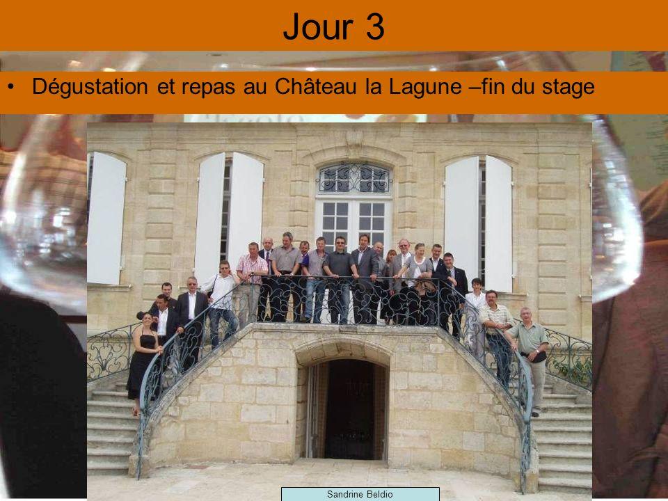 Jour 3 Dégustation et repas au Château la Lagune –fin du stage Sandrine Beldio
