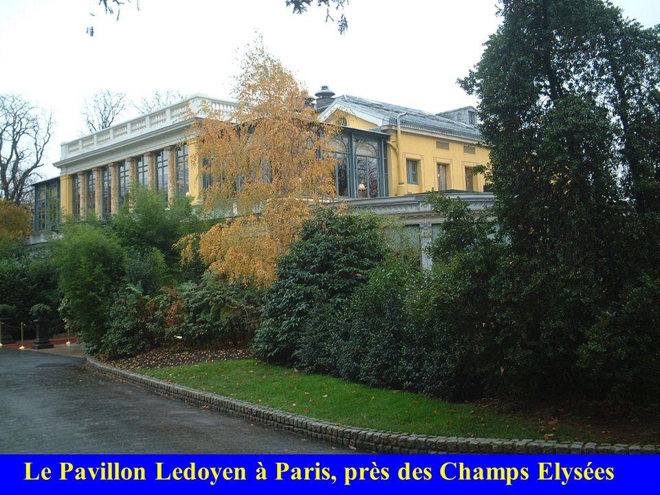 Le Pavillon Ledoyen à Paris, près des Champs Elysées