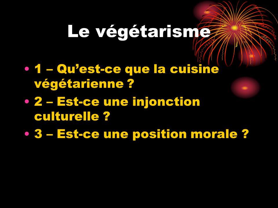 Le végétarisme 1 – Quest-ce que la cuisine végétarienne .