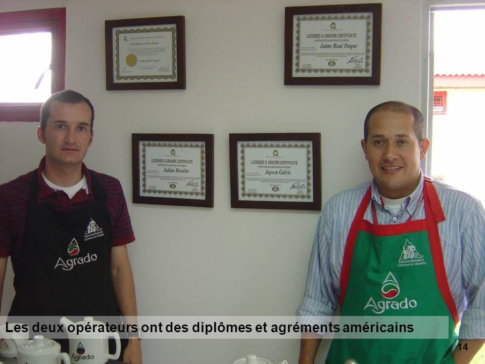 14 Les deux opérateurs ont des diplômes et agréments américains